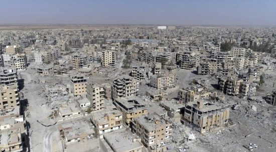 Destruction of syrian city