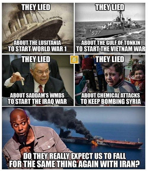 They Lied: False flag meme