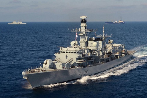The HMS Montrose (25% of the British Navy LOL)