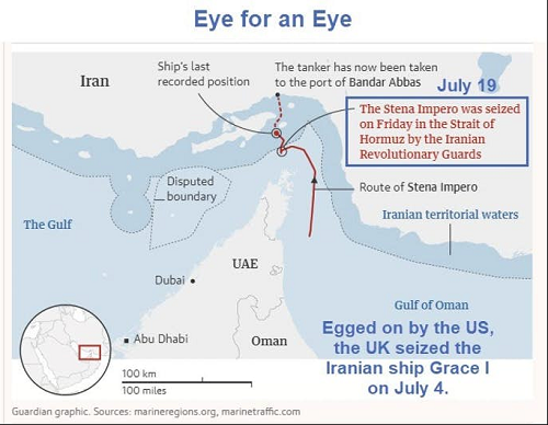 Guardian Graphic Hormuz incident